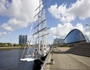 Tall ship at Pacific Quay