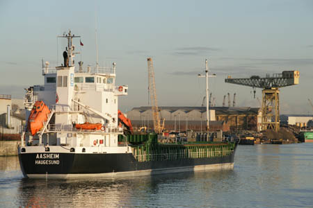 Commercial vessel on The Clyde