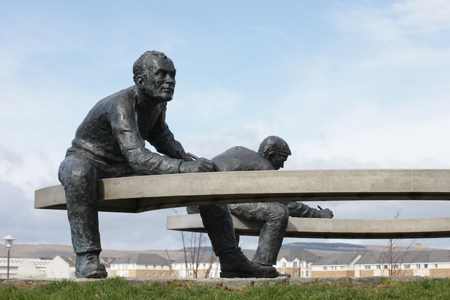 The Writers by David Annand at Clyde View Park