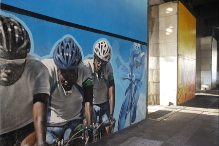 Commonwealth Games murals by artist Sam Bates