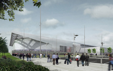 Artists impression of the National Velodrome, courtesy of Designhive/Glasgow 2014