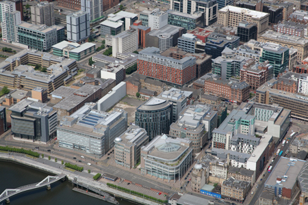 Aerial view of Glasgow's IFSD