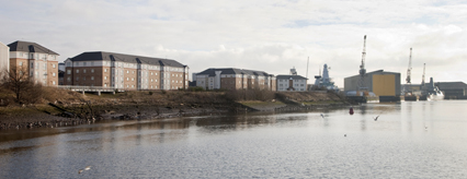 VIew of Bulldale Street development from the river